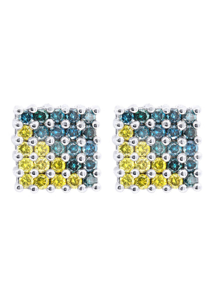 Diamond Earrings For Men | 1.16 Carats 14K White Gold