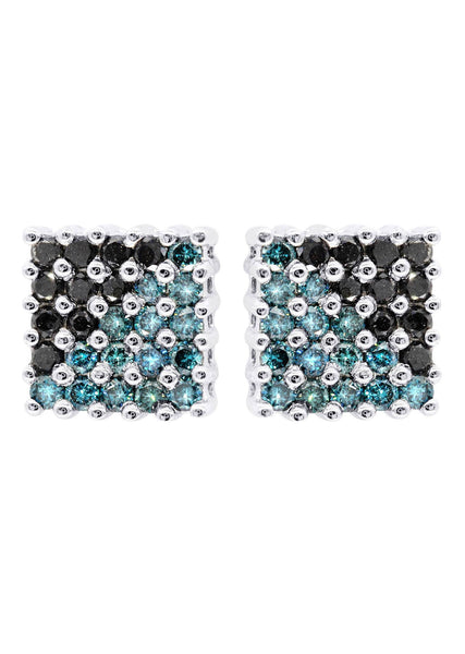 Diamond Earrings For Men | 1.86 Carats 14K White Gold