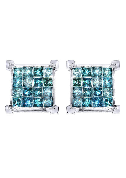Diamond Earrings For Men | 2.05 Carats 14K White Gold