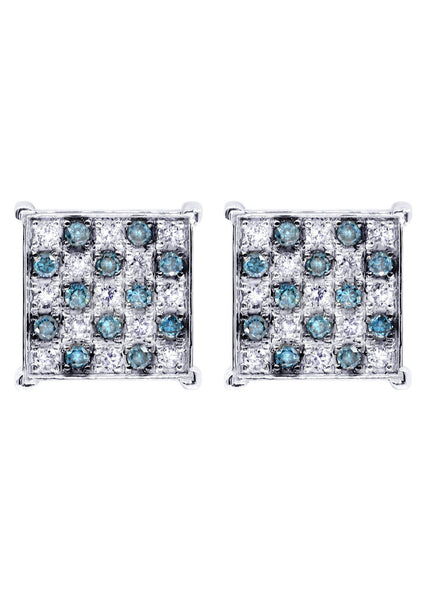Diamond Earrings For Men | 0.67 Carats 14K White Gold