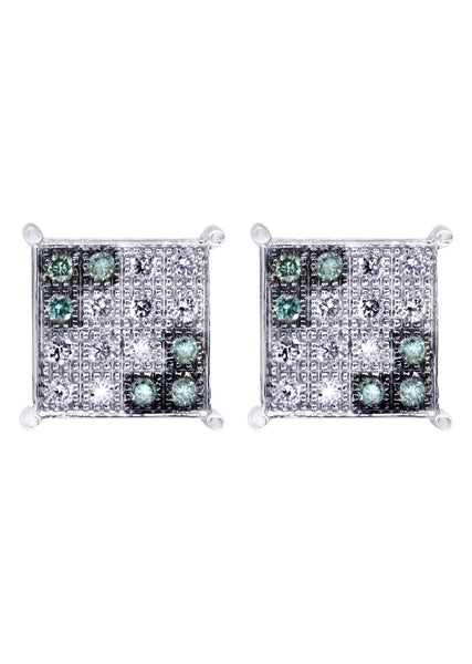 Diamond Earrings For Men | 0.31 Carats 14K White Gold
