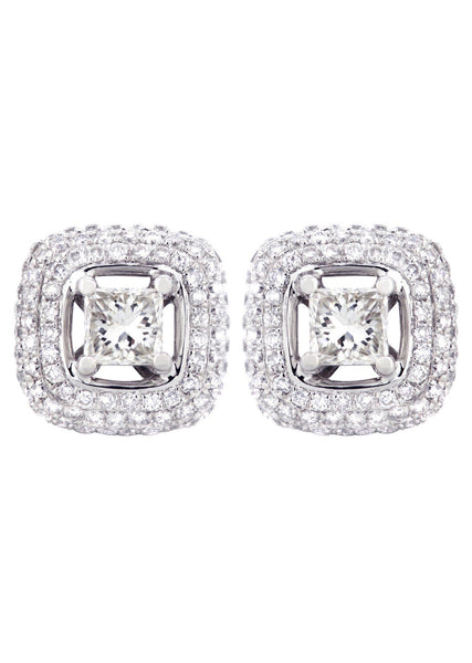 Princess Diamond Stud Earrings | 1.61 Carats