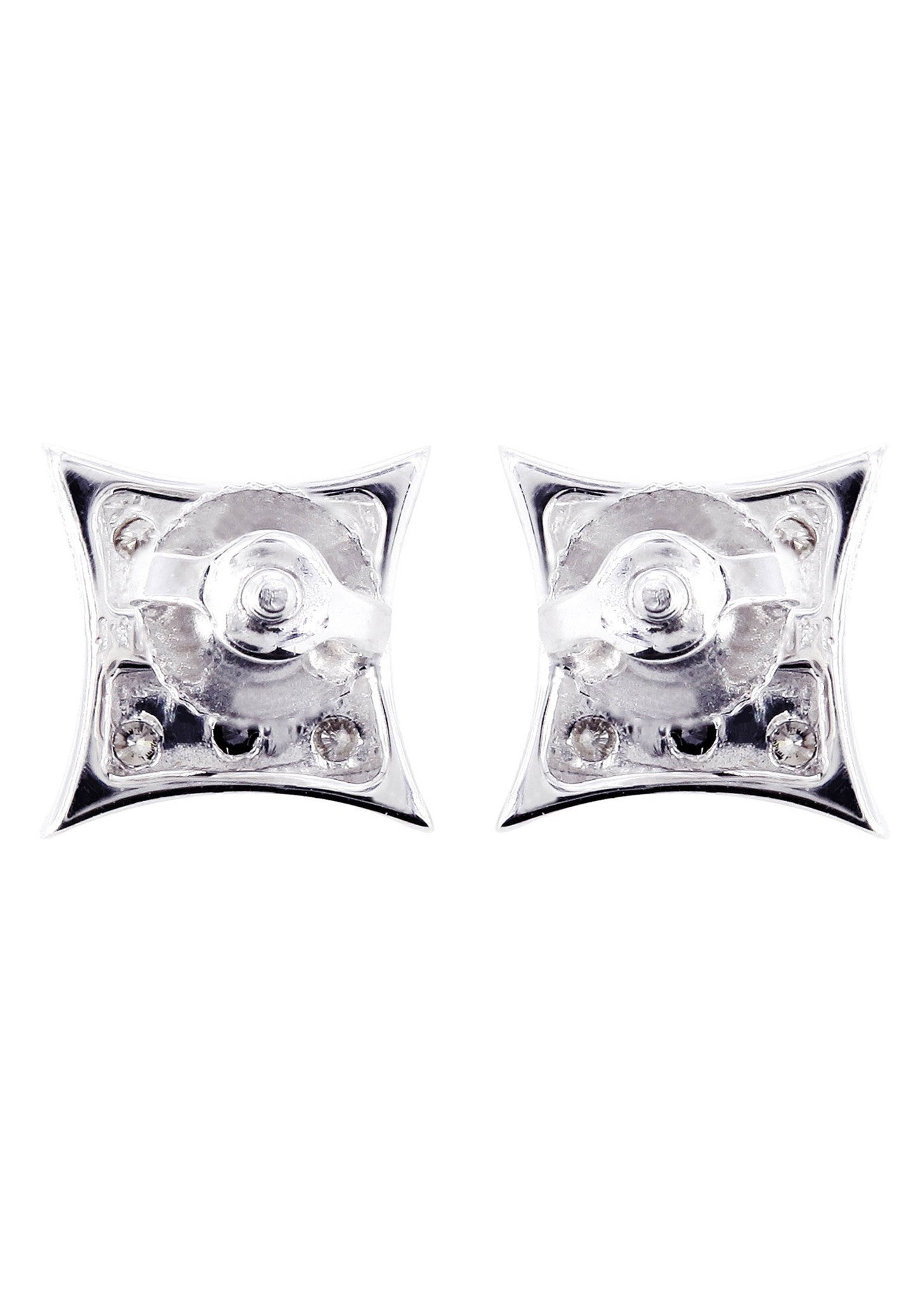Diamond Earrings For Men 0 2 Carats 14k White Gold
