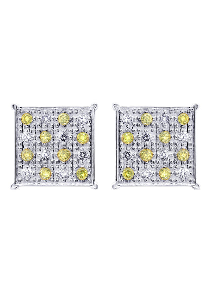 Diamond Earrings For Men | 0.61 Carats 14K White Gold