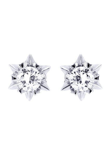 Stud Diamond Earrings For Men | 14K White Gold | 0.44 Carats