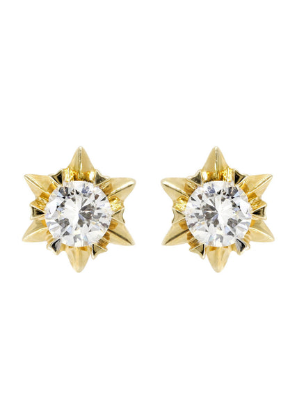 Stud Diamond Earrings For Men | 14K White Gold | 0.59 Carats