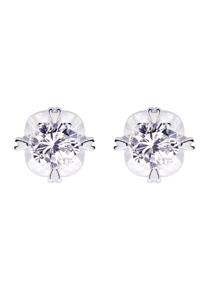 Diamond Stud Earrings For Men | 14K White Gold | 0.56 Carats