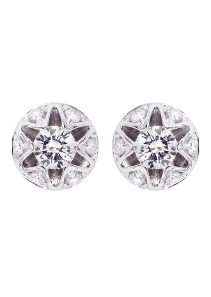Diamond Stud Earrings For Men | 14K White Gold | 0.61 Carats