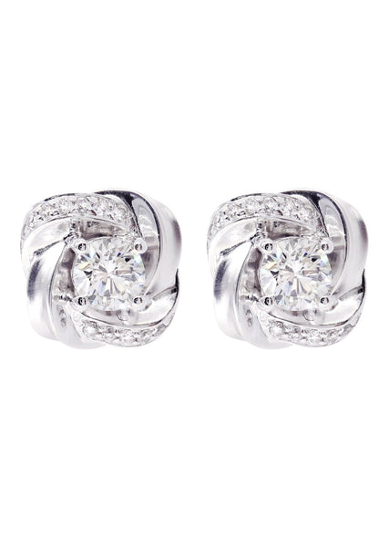 Diamond Stud Earrings For Men | 14K White Gold | 0.73 Carats