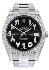 Rolex Datejust II Watch | 41 MM | Black Arabic Dial | Two Row | Oyster Band