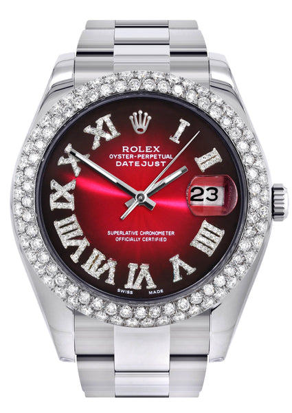 Rolex Datejust II Watch | 41 MM | Black Red Roman Numeral Dial | Two Row | Oyster Band