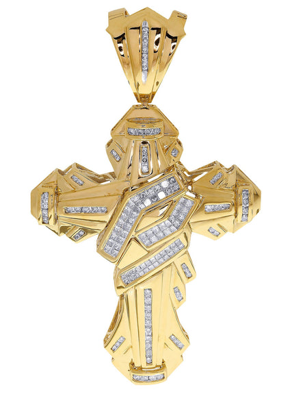 Diamond Cross Pendant| 2.04 Carats| 26.87 Grams