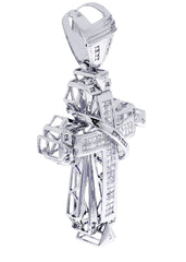 Diamond Cross Pendant| 2.66 Carats| 24.59 Grams
