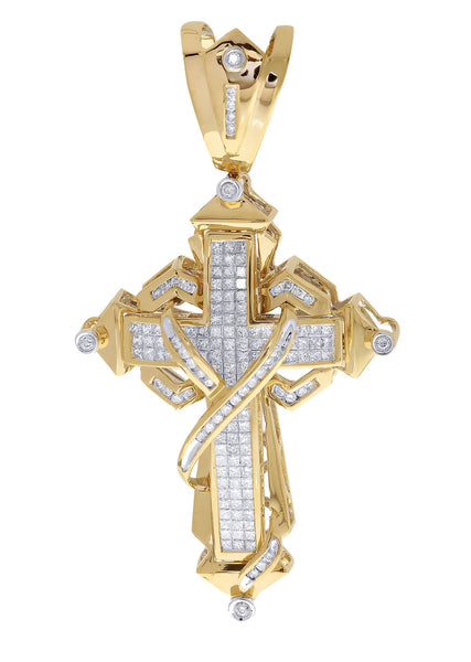 Diamond Cross Pendant | 2.71 Carats| 19.95 Grams