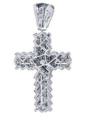 Diamond Cross Pendant| 2.56 Carats| 32.95 Grams