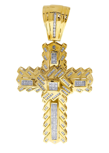 Diamond Cross Pendant| 2.51 Carats| 34.83 Grams
