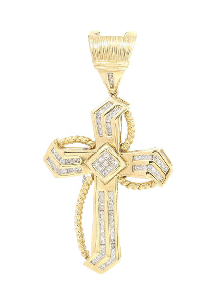 Diamond Cross Pendant | 0.52 Carats | 9.7 Grams