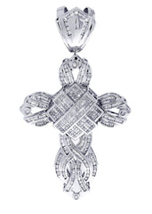 Diamond Cross Pendant| 3.26 Carats| 23.84 Grams