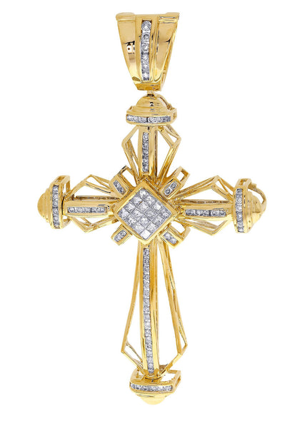 Diamond Cross Pendant| 1.36 Carats| 17.73 Grams
