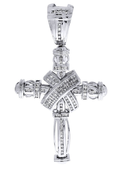 Diamond Cross Pendant| 1.93 Carats| 23.72 Grams