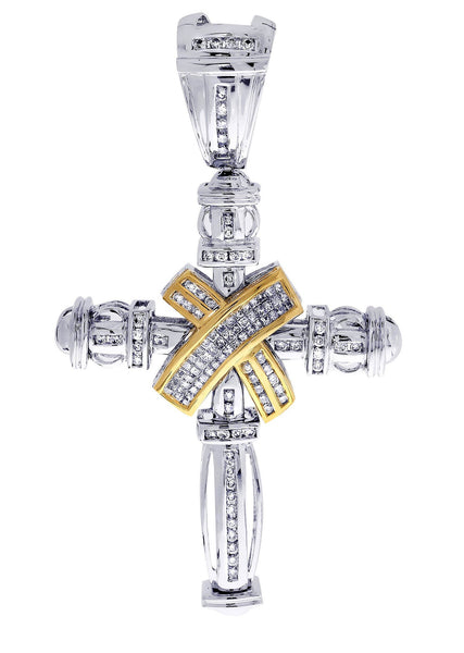 Diamond Cross Pendant| 1.84 Carats| 23.51 Grams