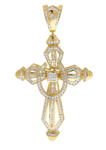 Diamond Cross Pendant| 3.61 Carats| 24.73 Grams
