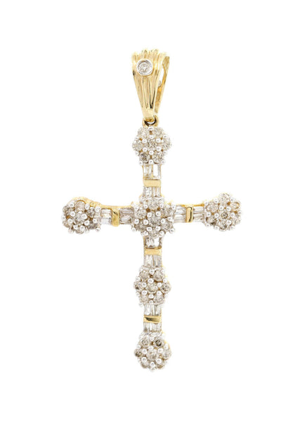 Diamond Cross Pendant | 0.87 Carats | 2.92 Grams