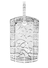 Diamond Dog Tag Pendant | 14.21 Grams | 2.21 Carats