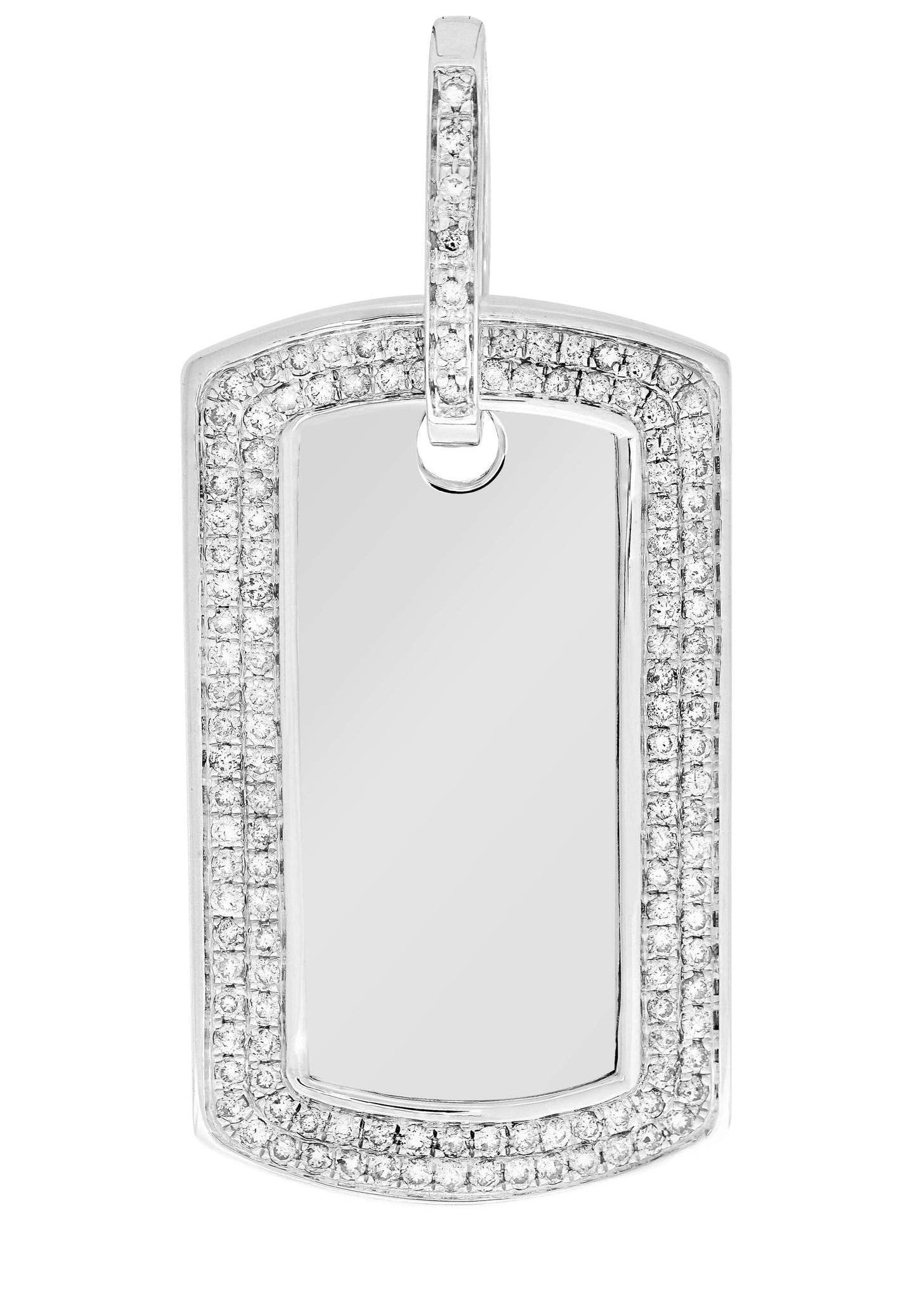 Diamond Dog Tag Pendant / 14.21 Grams / 2.21 Carats