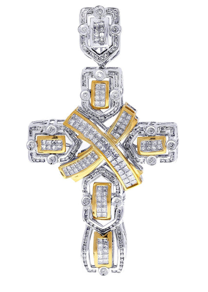 Diamond Cross Pendant| 4.22 Carats| 26.39 Grams