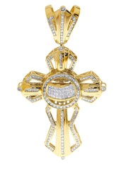 Diamond Cross Pendant| 3.57 Carats| 31.49 Grams