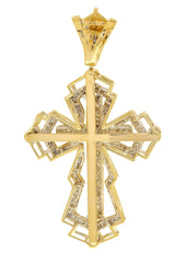 Diamond Cross Pendant| 2.63 Carats| 19.17 Grams