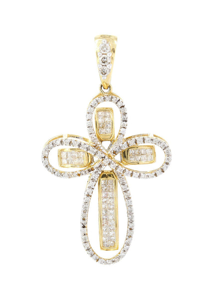 Diamond Cross Pendant | 1.3 Carats | 5.29 Grams