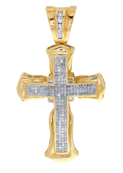 Diamond Cross Pendant| 4.48 Carats| 13.17 Grams