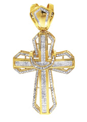 Diamond Cross Pendant| 4.11 Carats| 21.23 Grams