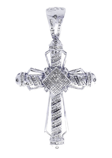 Diamond Cross Pendant| 2.1 Carats| 20.53 Grams