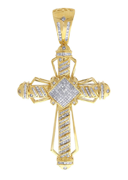 Diamond Cross Pendant| 1.89 Carats| 20.43 Grams