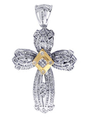 Diamond Cross Pendant| 1.9 Carats| 15.47 Grams