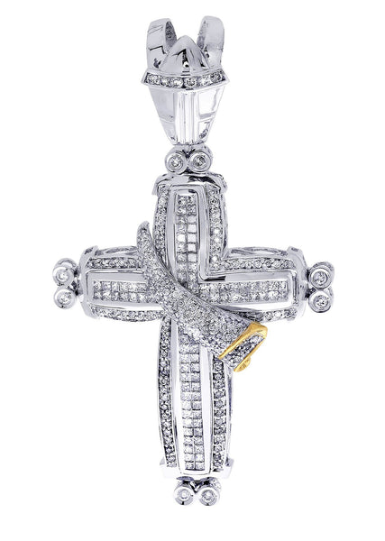 Diamond Cross Pendant| 2.85 Carats| 19.7 Grams