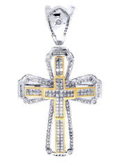 Diamond Cross Pendant| 2.92 Carats| 15.33 Grams