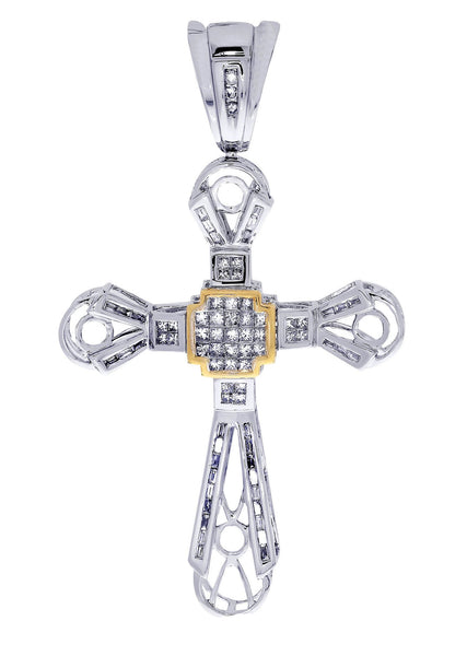 Diamond Cross Pendant| 1.28 Carats| 11.27 Grams