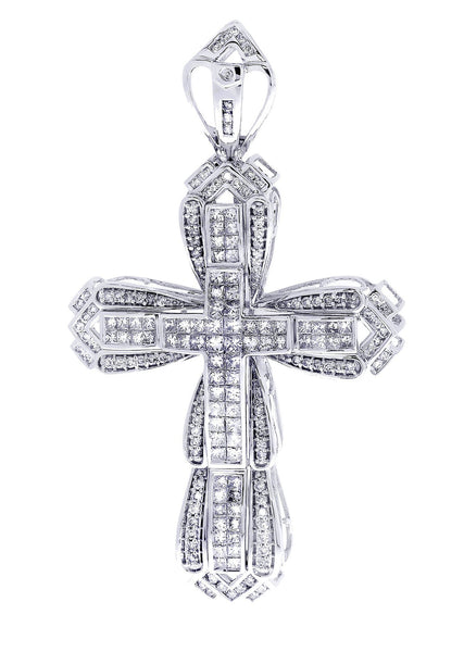 Diamond Cross Pendant| 4.36 Carats| 19.59 Grams