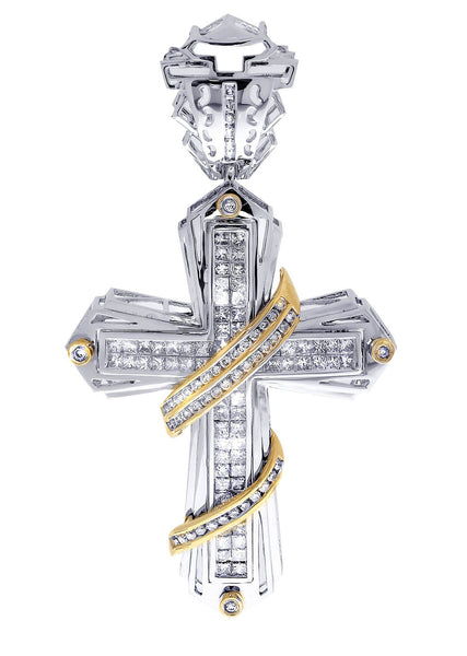 Diamond Cross Pendant| 3.57 Carats| 19.95 Grams