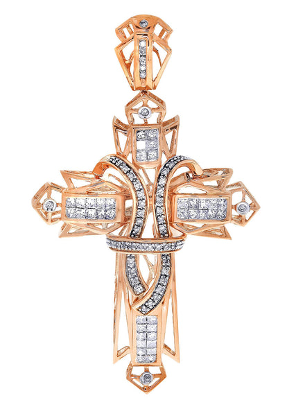 Diamond Cross Pendant| 1.68 Carats| 16.44 Grams