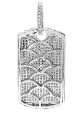Diamond Dog Tag Pendant | 14.84 Grams | 5.15 Carats