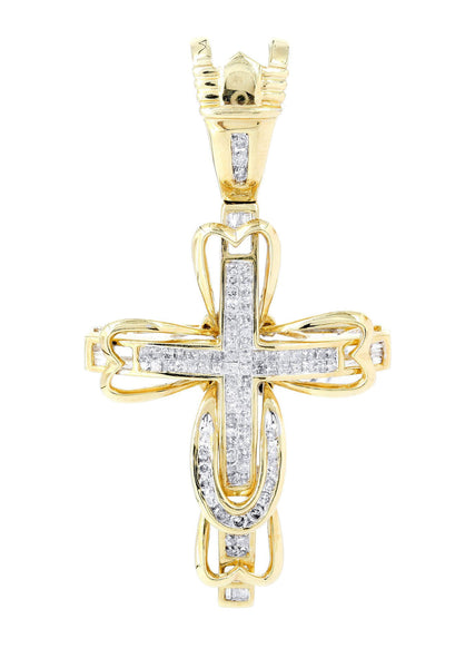 Diamond Cross Pendant | 1.22 Carats | 8.62 Grams