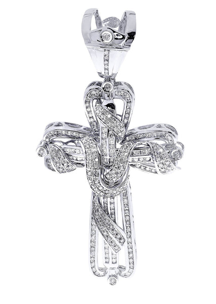 Diamond Cross Pendant| 3.34 Carats| 29.13 Grams