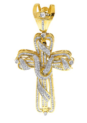 Diamond Cross Pendant| 3.25 Carats| 29.69 Grams