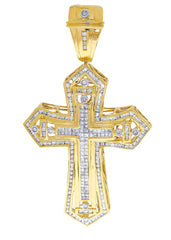 Diamond Cross Pendant| 4.08 Carats| 31.76 Grams