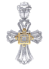 Diamond Cross Pendant| 2.1 Carats| 20.43 Grams